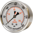 Valley Instrument Grade A Back Mount 2 1/2in. Glycerin Filled Gauge — 0-3000 PSI The price is $19.99.