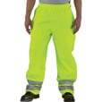 Carhartt Men's Class 3 High Visibility Waterproof Pants — Lime, 2XL/Tall Style, Model# 100497 The price is $124.99.