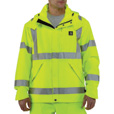 Carhartt Men's Class 3 High Visibility Waterproof Jacket — Lime, XL, Model# 100499 The price is $124.99.