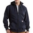 Carhartt Men's Paxton Heavyweight Hooded Zip-Front Sweatshirt - Navy, Small, Model# 100614 The price is $49.99.