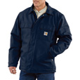Carhartt Men's Flame-Resistant Duck Traditional Coat - Navy, 2XL/Tall Style, Model# 101618-001 The price is $224.99.