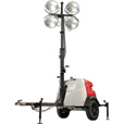 Generac Magnum MLT6SK Mobile Light Tower — 6000 Watts, Kubota Engine, Manual Winch, Model# 6967