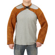 FREE SHIPPING — Gravel Gear Leather Welding Sleeves — Pair, 23in., Brown The price is $29.99.
