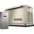 FREE SHIPPING — Generac Guardian Series Air-Cooled Home Standby Generator — 11 kW (LP)/10 kW (NG), 200 Amp Transfer Switch, Model# 7033 The price is $3,137.00.
