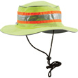 Berne High Visibility Non-Rated Safety Bucket Hat — Lime, One Size Fits Most, Model# HVA157YW The price is $9.99.