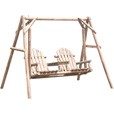 Stonegate Designs Wooden Swing — Natural Finish, Model# DSL-9085N The price is $129.99.