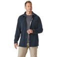 FREE SHIPPING - Gravel Gear Men's 9-Oz. Grid Fleece Shirt Jacket - Large, Navy The price is $24.99.
