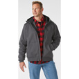 FREE SHIPPING - Gravel Gear Men's 11-Oz. Cotton/Poly Water-Resistant Hooded Sweatshirt - 2XL, Forged Iron