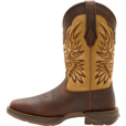 Durango Men's 11in. Wingman Western Pull-On Work Boots — Tan/Brown, Size 9, Model# DB5532 The price is $159.99.