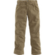 Carhartt Men's Flame-Resistant, Relaxed Fit,  Midweight Canvas Pants — Golden Khaki, 46in. Waist x 32in. Inseam, Regular Style, Model# FRB159 The price is $73.99.
