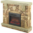 ProFusion Heat Polystone Electric Fireplace with Mantel — 4600 BTU, Brown, Model# MM01512-44