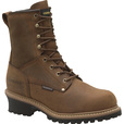 FREE SHIPPING — Carolina Men's 8in. Waterproof Insulated Steel Toe Logger Work Boots - Brown, Size 11 Wide, Model# CA5821 The price is $149.99.