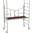 Metaltech 6ft. Easy-Set Aluminum Scaffold Tower — 800-Lb. Capacity, Model# AL-Q0100 The price is $579.99.