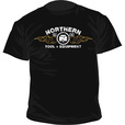 Short Sleeve Northern Tool Men's Flames T-Shirt - Black, XL The price is $7.99.