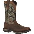 Durango Men's Rebel 12in. Waterproof Camo Western Pull-On Boots — Brown/Camo, Size 9 1/2 Wide, Model# DDB0058 The price is $179.99.