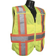 Radians Men's Class 2 High Visibility Breakaway Expandable Two-Tone Safety Vest — Lime, Model# SV24-2ZGM
