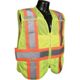 Radians Men's Class 2 High Visibility Breakaway Expandable Two-Tone Safety Vest — Lime, XL/2XL, Model# SV24-2ZGM The price is $24.99.