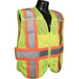 Radians Men's Class 2 High Visibility Breakaway Expandable Two-Tone Safety Vest — Lime, XL/2XL, Model# SV24-2ZGM The price is $17.99.