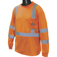 Radians RadWear Men's Class 3 High Visibility Long Sleeve Safety T-Shirt with UV Protection — Orange, Medium, Model# ST21UV-3POS The price is $23.99.