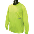 Radians RadWear Men's Non-Rated High Visibility Long Sleeve Safety T-Shirt with Max-Dri — Lime, Model# ST21-NPGS