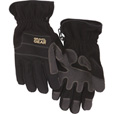 FREE SHIPPING — Gravel Gear Men's Tech Fleece Gloves with Thinsulate  — Black