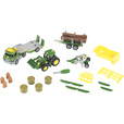 Kettler John Deere Megaset, 1:24 Scale — Buildable Toy Tractor, Truck, Trailer and Cultivator, Model# 3919-TK