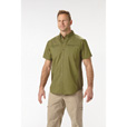 FREE SHIPPING - Gravel Gear Men's Flex Wear Tri-Blend Short Sleeve Vented Work Shirt - Army Green, Medium The price is $21.99.