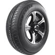 FREE SHIPPING — Kenda Loadstar Karrier Radial Trailer Tire and 5-Hole Aluminum Wheel with Hub Cap — 205/75R–14 LRC, Black The price is $169.99.