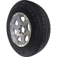 FREE SHIPPING — Carlisle Radial HD Trailer Tire and Intruder Aluminum Wheel Assembly — ST225/75R15 LRD The price is $174.99.
