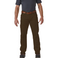 FREE SHIPPING - Gravel Gear Men's Flex Wear 10-Oz. Brushed Twill Work Pants with Teflon Fabric Protector - Dark Coffee, 36in. Waist x 34in. Inseam The price is $29.99.