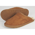 Men's Scuff Slippers — Light Brown, Medium The price is $39.99.