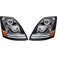 TRUX Volvo Driver's Side LED Projector Headlight Assembly with LED Lightbar — Model# TLED-H17 The price is $549.99.