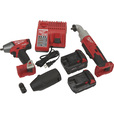 Milwaukee M18 RedLithium Brushless Compact Cordless 3/8in. Impact Wrench & 3/8in. Right Angle Hex Impact Wrench Combo Kit — Model# 2699-22CX The price is $399.99.