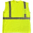 Forester Men's Class 2 Sleeveless Safety T-Shirt — Lime, Model# SSJ9051-L