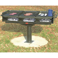 Pilot Rock Shelterhouse 1220 Sq. In. Grill — Model# Q3-2460 B8 The price is $759.99.