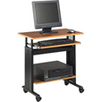 Safco Muv Adjustable-Height Mobile Computer Desk — 28in.W, Oak/Black, Model# 1925MO The price is $277.99.