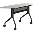Safco Rumba Trapezoid Nesting Table — 60in. x 24in., Gray/Black, Model# 2040GRBL The price is $569.99.