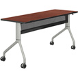 Safco Rumba Rectangular Nesting Table — 60in. x 24in., Cherry/Silver, Model# 2042CYSL The price is $539.99.