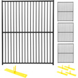 Jewett-Cameron 4-Panel European Design Perimeter Patrol Kit — Temporary Fencing Panels, Each 5ft. x 6ft., Model# RF 0505 EDP The price is $599.99.