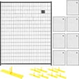 Jewett-Cameron 8-Panel Perimeter Patrol Kit — Black, Temporary Fencing Panels, Each 5ft. x 6ft., Model# RF 1010 WWP The price is $889.99.