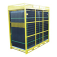 Jewett-Cameron Perimeter Patrol 28-Panel, Full Pallet Fencing Assembly — Black, 7 1/2ft. x 6ft. Panels, Model# RF 12805 The price is $3,499.99.