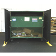Jewett-Cameron Perimeter Patrol 4-Panel, 3-Sided Dumpster Enclosure — Model# RF3-15DB The price is $759.99.