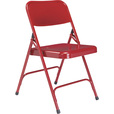 National Public Seating All Steel Folding Chairs — Set of 4, Red, Model# 240 The price is $84.99.