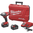 FREE SHIPPING — Milwaukee M18 FUEL Cordless Brushless Mid-Torque Impact Wrench Kit with Pin Detent — 1/2in. Drive, 600 Ft.-Lbs. Torque, 2 Batteries, Model# 2860-22 The price is $349.00.