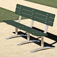 Pilot Rock 6ft. Park Bench — Green, Plastic, Model# PCXB/G-6PN24 The price is $414.99.