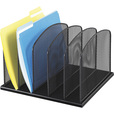 Mayline Safco Onyx 5 Upright Sections Desktop Organizer — Black, Model# 3256BL The price is $25.99.