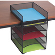 Mayline Safco Onyx Hanging Storage Desktop Organizer — Black, Model# 3240BL The price is $31.99.