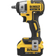 FREE SHIPPING — DEWALT 20V MAX Lithium-Ion Cordless 3/8in. Compact Impact Wrench Kit — Hog Ring Anvil, 150 Ft.-Lbs. Torque, 2 Batteries, Model# DCF890M2