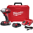 FREE SHIPPING — Milwaukee M18 3/8in. Impact Wrench Kit — With 2 Batteries, 18 Volt, Model# 2658-22CT The price is $229.00.