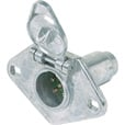 Hopkins Towing Solutions 6 Round Trailer Wiring Connector — Vehicle Side, Model# 48435 The price is $9.99.